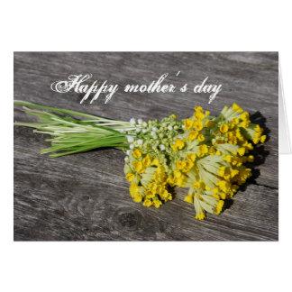 Día feliz de los mother´s tarjeta de felicitación