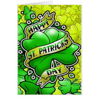 Día feliz del St Patricks Tarjeta De Felicitación