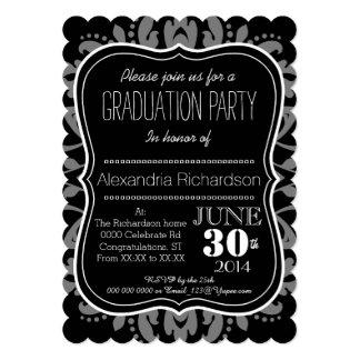 Día femenino de la fiesta de graduación linda invitación 12,7 x 17,8 cm