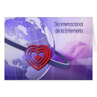 Día Internacional de la Enfermería. En español Tarjeta