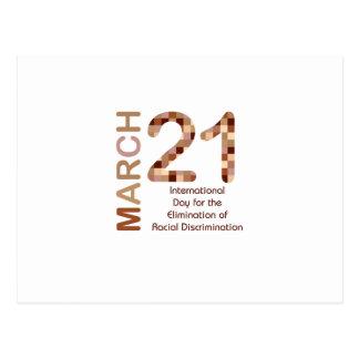 Día internacional para la eliminación del racismo postal