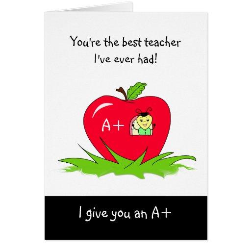 Día lindo Apple del aprecio del profesor para el p Felicitaciones