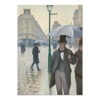 Día lluvioso de la calle de París Invitación 11,4 X 15,8 Cm
