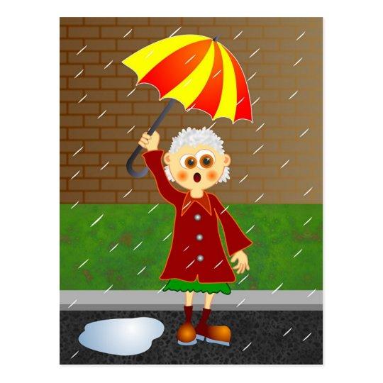 Día lluvioso postal