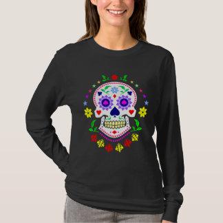 Día mexicano del cráneo decorativo muerto del camiseta