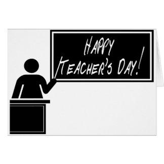 Día nacional del aprecio del profesor tarjeta de felicitación