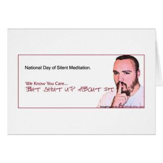 Día nacional del recordatorio silencioso de la med tarjeta de felicitación