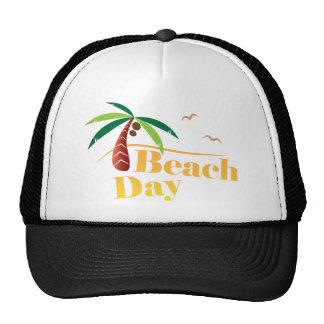 Día perfecto de la playa del verano gorros bordados