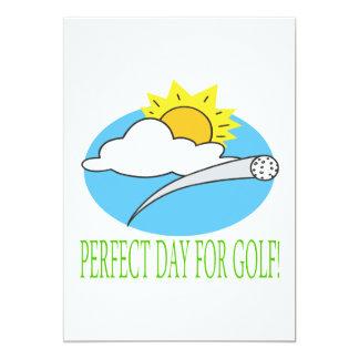 Día perfecto para el golf invitación 12,7 x 17,8 cm