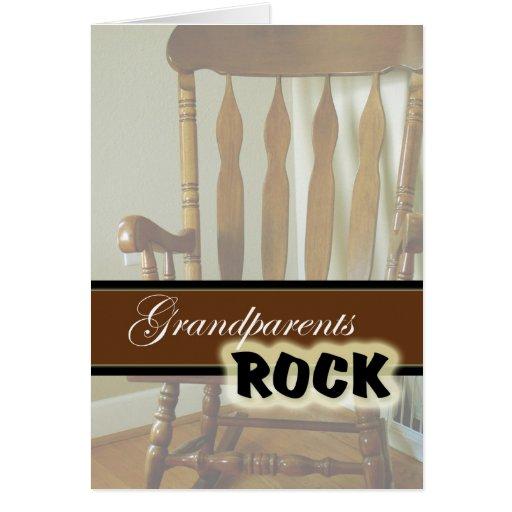 Día Roca-Feliz de los abuelos de los abuelos Tarjetas