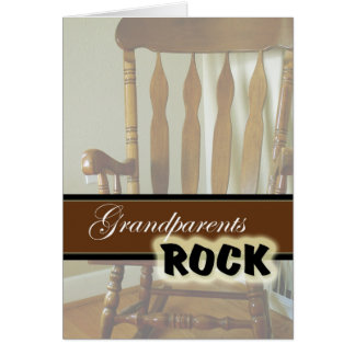 Día Roca-Feliz de los abuelos de los abuelos Tarjeta De Felicitación