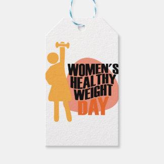 Día sano del peso de las mujeres - día del aprecio etiquetas para regalos