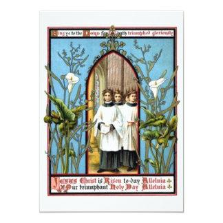 Día santo triunfante invitación 12,7 x 17,8 cm