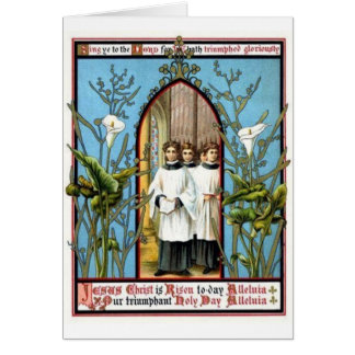 Día santo triunfante tarjeta de felicitación