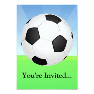 Día soleado del balón de fútbol anuncios personalizados