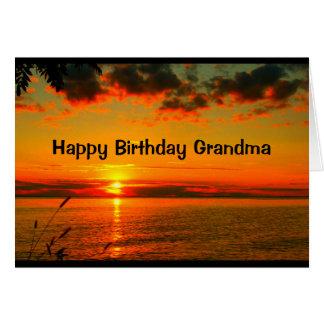Día tan hermoso como usted cumpleaños de la abuela tarjeta de felicitación