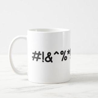 Día típico de la frustración taza de café