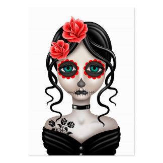 Día triste del chica muerto en blanco tarjetas personales