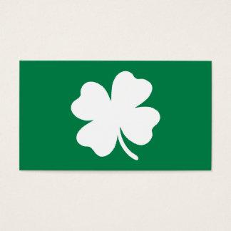 Día verde Irlanda del St Patricks del trébol Tarjeta De Visita