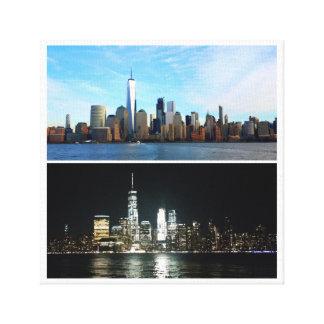 Día y noche de Nueva York Lienzo
