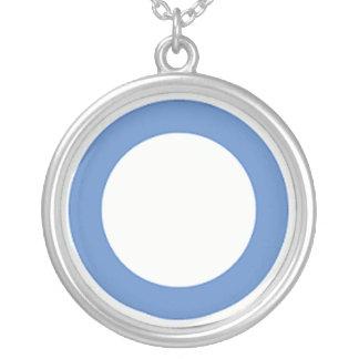 diabetes-azul-círculo colgante redondo