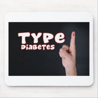 Diabetes del tipo 1 tapete de raton