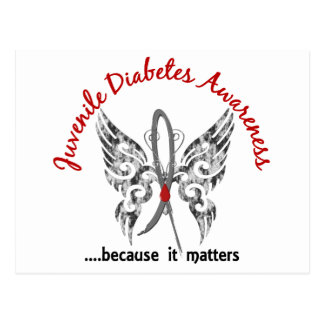 Diabetes juvenil de la mariposa 6,1 del tatuaje de postales