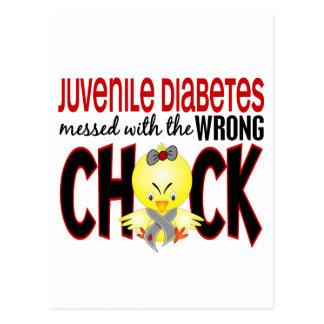 Diabetes juvenil ensuciada con el polluelo postal