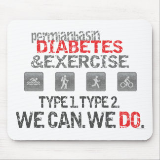 Diabetes y ejercicio pérmicos del lavabo alfombrilla de ratón
