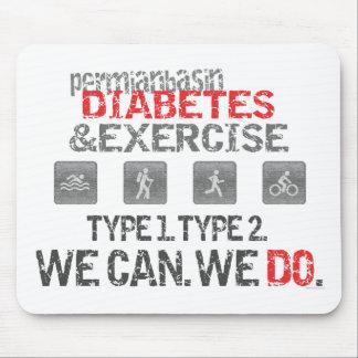 Diabetes y ejercicio pérmicos del lavabo alfombrillas de raton