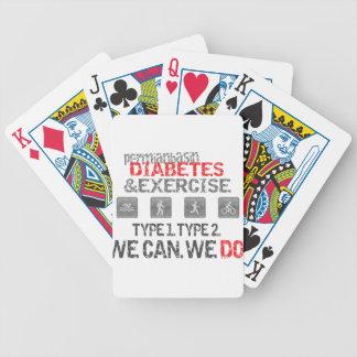 Diabetes y ejercicio pérmicos del lavabo baraja de cartas