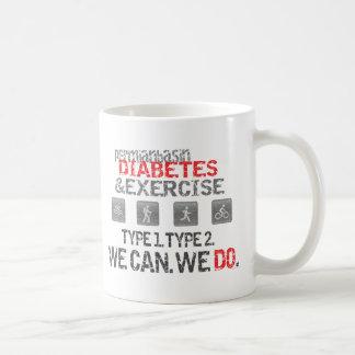 Diabetes y ejercicio pérmicos del lavabo taza básica blanca