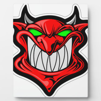 Diablo del dibujo animado placa expositora