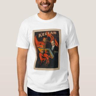 Diablo y demonios de Kellar con el poster mágico Camiseta