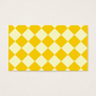 Diag a cuadros - amarillo amarillo claro y oscuro tarjeta de negocios