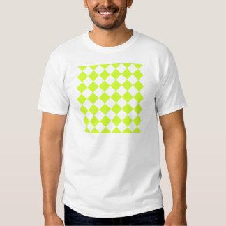Diag a cuadros - amarillo blanco y fluorescente camisetas