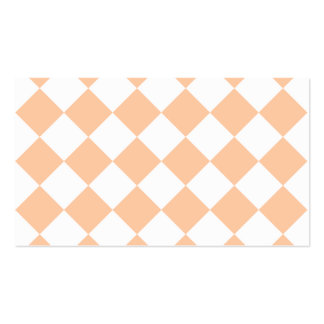 Diag a cuadros - melocotón blanco y profundo tarjetas de visita