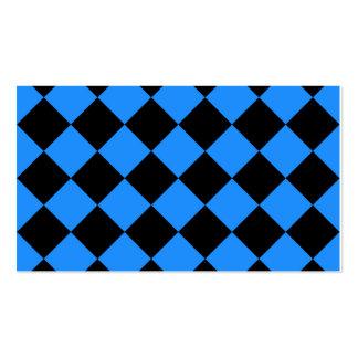 Diag a cuadros - negro y azul de Dodger Tarjetas De Visita