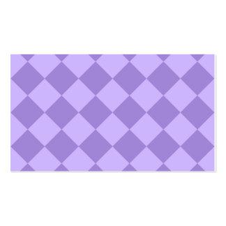 Diag a cuadros - violeta y violado claro tarjetas de visita