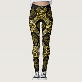 diagonal del oro de f leggings