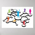 Diagrama de conexiones social de los medios poster