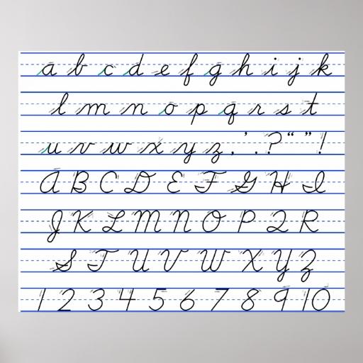 Abecedario completo en letra de carta - Imagui