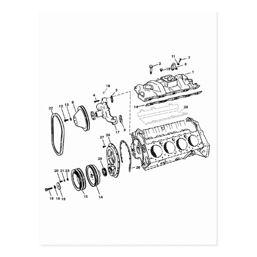 diagrama del motor 454ci postal