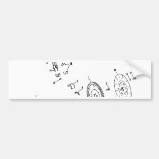 diagrama del pistón 454ci pegatina de parachoque