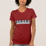 Diagrama del teclado de piano camisetas