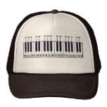 Diagrama del teclado de piano gorro