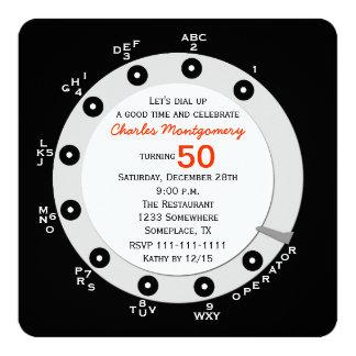 Dial rotatorio de la 50.a de cumpleaños invitación