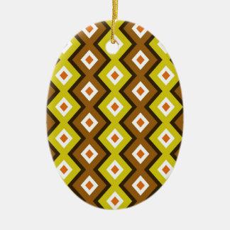 Diamante africano adorno ovalado de cerámica