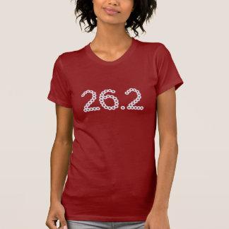 diamante artificial de 26,2 maratones camiseta