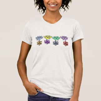 Diamante artificial del búho de Bling falso Camiseta